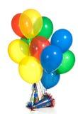 Balões e chapéus Foto de Stock