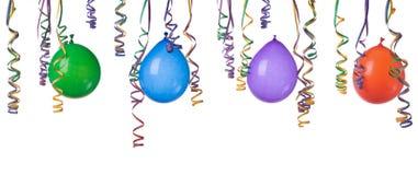 Balões e confetti Imagens de Stock