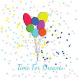 Balões e estrelas de ar Imagem de Stock