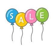 Balões e o começo da venda foto de stock