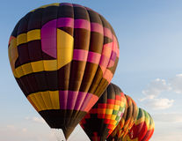 Balões em seguido Foto de Stock