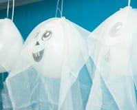 Balões Ghost para o partido Dia das Bruxas Foto de Stock