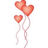 Balões Heart-shaped para o dia do Valentim Fotos de Stock Royalty Free