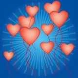 Balões Heart-shaped para o dia do Valentim Imagem de Stock