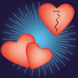 Balões Heart-shaped para o dia do Valentim Imagem de Stock Royalty Free