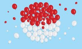 Balões indonésios da bandeira Imagens de Stock