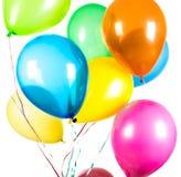 Balões em um fundo branco Fotos de Stock