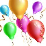 Balões isolados no vetor branco do fundo Imagens de Stock