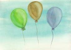 Balões livres Fotos de Stock Royalty Free