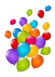 Balões lustrosos da cor isolados Imagens de Stock