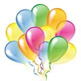 Balões lustrosos isolados em um fundo branco Imagens de Stock Royalty Free