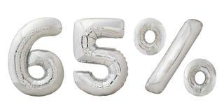 Balões metálicos do cromo de sessenta e cinco por cento Fotografia de Stock Royalty Free