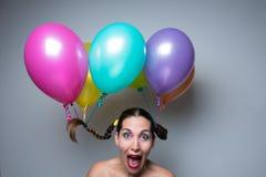 Balões na cabeça Imagens de Stock Royalty Free