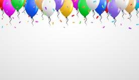 Balões na parte superior Fotografia de Stock