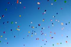 Balões no céu Foto de Stock Royalty Free