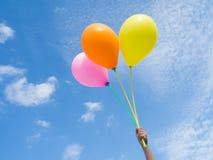 Balões no céu Fotografia de Stock