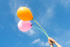 Balões no céu Fotos de Stock Royalty Free