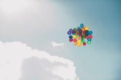 Balões no céu 1669 Imagens de Stock Royalty Free