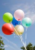balões no céu do fundo Fotos de Stock Royalty Free