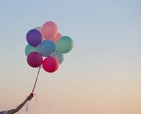 balões no céu do fundo Fotografia de Stock