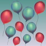 Balões no céu do th Fotografia de Stock Royalty Free