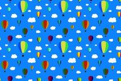 Balões no céu Vector o teste padrão sem emenda EPS10 Foto de Stock