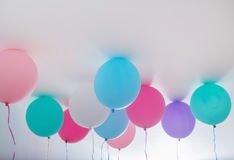 Balões no fundo branco Imagem de Stock Royalty Free