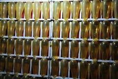 Balões no fundo das caixas Fotos de Stock Royalty Free