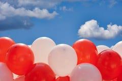 Balões no fundo do céu Imagem de Stock Royalty Free