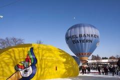 Balões no Montgolfiade Foto de Stock Royalty Free