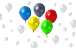 Balões olímpicos Foto de Stock Royalty Free