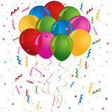 Balões para o aniversário ou o partido ilustração do vetor