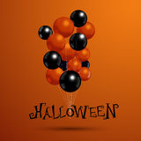 Balões para o partido de Dia das Bruxas com tipografia Vect Fotografia de Stock Royalty Free