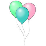 Balões Pastel brilhantes Ilustração Royalty Free