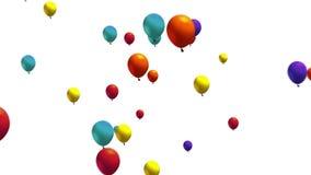 Balões que zumbem para fora video estoque