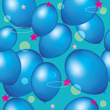 Balões sem emenda do azul do fundo Imagem de Stock