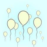 Balões tirados mão Fotos de Stock