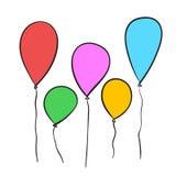 Balões tirados mão Imagem de Stock Royalty Free