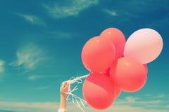 Balões vermelhos Fotografia de Stock