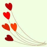 Balões vermelhos do coração Imagens de Stock Royalty Free