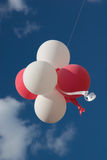 Balões vermelhos e brancos Fotografia de Stock