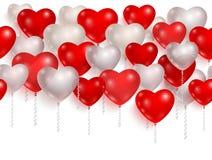 Balões vermelhos e brancos do partido 01 Imagem de Stock Royalty Free