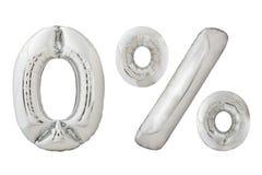 Balões zero do cromo dos por cento Fotografia de Stock