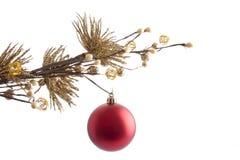 bal κόκκινο Χριστουγέννων Στοκ φωτογραφίες με δικαίωμα ελεύθερης χρήσης