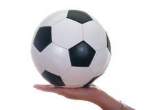 bal ποδόσφαιρο δέρματος Στοκ Φωτογραφία