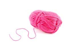 Bal cor-de-rosa de lãs Foto de Stock Royalty Free