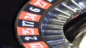 Bal in de casinoroulette stock video
