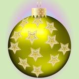 Bal de oro de la Navidad Fotografía de archivo