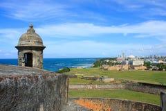 Bal del ³ di Castillo de San Cristà San Juan, Porto Rico Immagine Stock