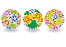 Bal die uit kleuren bestaat. Vector. Stock Afbeelding